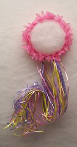 """Easy party gift to make that all little girls LOVE to wear! You could do all gold/yellow ribbon and make it really long as if they have long Tangled hair! so cute for the preschoolers could we watch """"Tangled?"""" too?"""