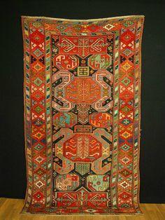 Antik Kasak kazak ca: 240x123cm  antique rug SAMMLERSTÜCK KAUKASIEN caucasia