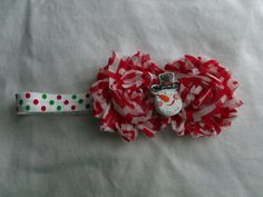Have your little one show some holiday spirit! Great for Christmas pictures!!! Check out this item in my Etsy shop https://www.etsy.com/listing/209375919/christmas-snowman-headband