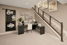 Explore the Harris floor plan Corporate Office Design, Modern Office Design, Office Interior Design, Office Interiors, Basement Home Office, Home Office Space, Richmond American Homes, Commercial Office Design, Industrial Office Design