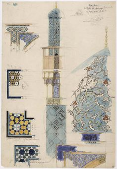 The Genius of the Orient: Modern Europe and the Arts of Islam - Magazine Persian Architecture, Mosque Architecture, Architecture Drawings, Historical Architecture, Architecture Wallpaper, Islamic Art Pattern, Pattern Art, Pascal Coste, Motif Art Deco