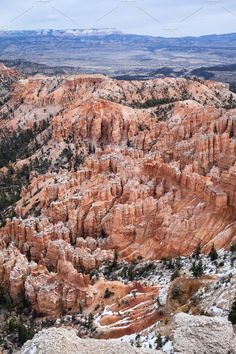 Elevated View Over Bryce Canyon by PhotographerJen on @creativemarket #Landscape #BryceCanyon #Design #CreativeMarket