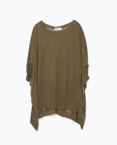 ZARA - NEW THIS WEEK - PONCHO T-SHIRT