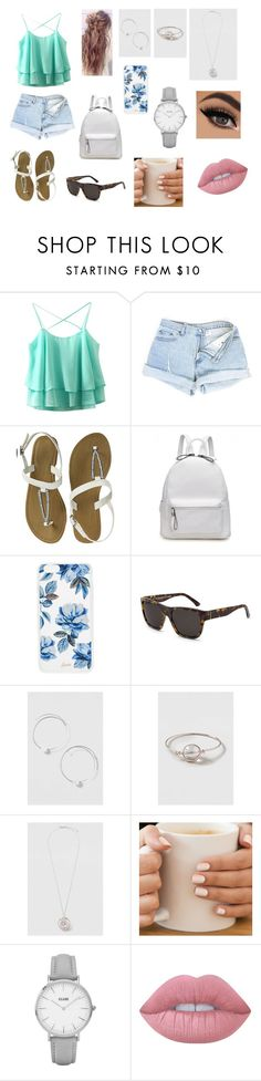 """""""Sans titre #15"""" by zaynfuckingmalik ❤ liked on Polyvore featuring Sonix, RetroSuperFuture, Topshop and Lime Crime"""