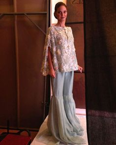 Check out our latest #eid collection with #3D #embellished tunic paired with #signature gharara pants from #SOS #fundraiser #fashionShow in Islamabad. #craftsmanship #details #tunic #eidcollection2017 #nidaazweratelier