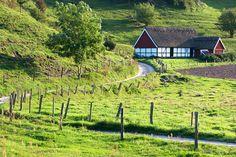 Österlen, Lindgrens länga på Haväng, Skåne, South of Sweden