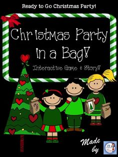 Imagine a school Christmas party with no prep! Students will decorate and fill a bag with goodies to bring to class where they will participate in a fun interactive game to exchange bags. Includes a parent note, interactive game/story, list of supplies, Holiday Games, Holiday Fun, Holiday Ideas, Holiday Recipes, Holiday Parties, Holiday Crafts, Christmas Ideas, Merry Christmas, Party Activities