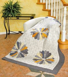 Ophelia by Cathy Anderson (from Quilt Trends Magazine Summer 2014 issue, on newsstands now)  www.quilttrendsmag.com