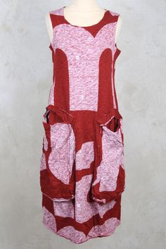 Dress with Statement Pockets in Strawberry Print - Rundholz Black Label
