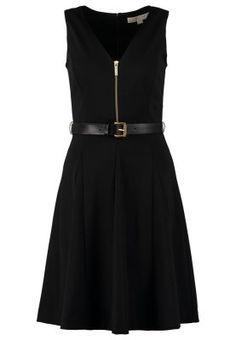 Sommerkjole - black/gold Michael Kors, Black Gold, Dresses, Products, Fashion, Curve Dresses, Gowns, Moda, La Mode