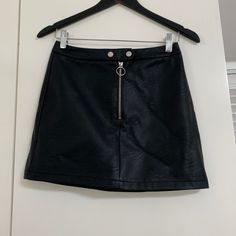 Black topshop leather skirt ( US Save The Planet, Selling Online, Second Hand Clothes, Casual Shorts, Platform, Unique, Skirts, Stuff To Buy, Shopping
