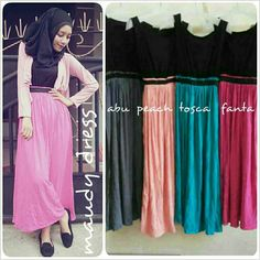 MAUDY DRESS IDR 105 (no outer) material : kaos rayon, fit L 0857 2930 2137