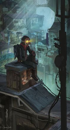 Collection Of My Favourite Cyberpunk Images In - Collection Of My Favourite Cyberpunk Images April Good Use Of Light And Hazy Materials The Art Of Animation Jessica Smith Art Of Animation Hacker Art Ghost Cat Shadowrun Cyberpunk Art Cyberp Cyberpunk, Cyberpunk City, Fantasy Art, Animation Art, Sci Fi Art, Cyberpunk Art, Animation, Illustration Art, Art