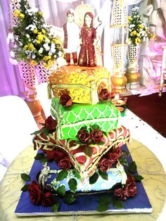 Indian pillow wedding cake.