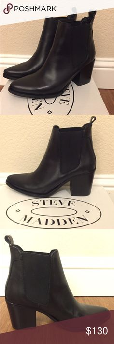 Black Steve Madden Boots Never worn. Still in the box. Steve Madden Shoes Ankle Boots & Booties