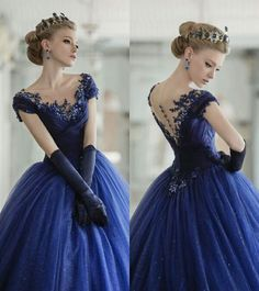 Top Quality Long Prom Dresses Navy Blue 2016 Ball Gown With Appliques Sequin Short Sleeve Evening Gowns Vestidos De Formatura Evening Dresses, Prom Dresses, Formal Dresses, Dress Prom, Quinceanera Dresses, Dresses 2016, Bridesmaid Dresses, Formal Hair, Long Dresses