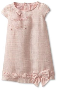 Biscotti Baby-Girls Infant Ode To Chanel Dress, Pink, 12 Months Biscotti, Little Girl Outfits, Little Girl Fashion, Little Girl Dresses, Kids Fashion, Baby Girl Dresses, Cute Dresses, Baby Girls, Baby Dress Design, Baby Sewing