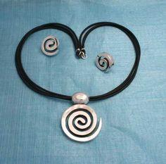 Joyeria de Plata / Silver Jewelry. Juego Collar-Arete de Plata, Silver Set Necklace-Earring,  venta de mayoreo/ Wholesale. www.joyasenplata.mx