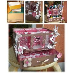 Pretty Organizer with Bonus Drawer (Instructions in French, use Google Translate)