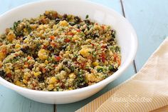 Southwestern Black Bean, Quinoa and Mango Medley - Enjoy this as a meatless main course with some corn tortillas.