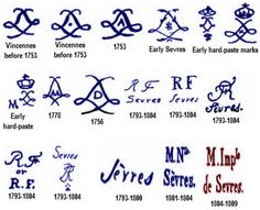 Antique Pottery Marks - France Archive Page 3                                                                                                                                                                                 More