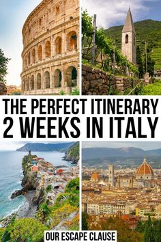 Planning your first trip to Italy? This 2 weeks in Italy itinerary will walk you through some of the best highlights of the country in just 14 days including Rome Florence Tuscany Venice and Cinque Terre! 2 weeks in italy Italy Places To Visit, Things To Do In Italy, Visit Italy, Italy Travel Tips, Rome Travel, Budget Travel, Florida Keys, West Usa, 2 Weeks In Italy