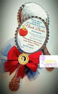 Snow White Party : Snow White mirror Custom Invitation