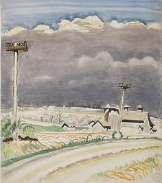 Road with Telephone Poles, May 26, 1917: Charles Burchfield
