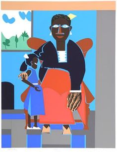 Family (mother and child) - Romare Bearden