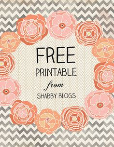 Make Your Own Free Printable