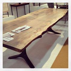 Stunning maple slab table by Tod Von Mertens. ICFF 2013