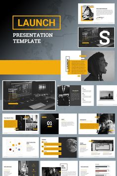 Launch PowerPoint Template Launch, is a template created with precision and a powerful color, this feature highlights the content and images, you only need to replace your own text, but Poster Layout, Print Layout, Modern Powerpoint Design, Powerpoint Design Templates, Graphic Design Brochure, Brochure Layout, Presentation Layout, Business Presentation, Page Layout Design