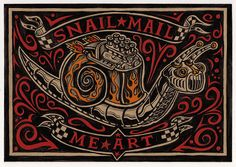 Mail Me Art Project - Snail Mail Me Art - illustration by Rod Hunt, via Flickr http://www.rodhunt.com