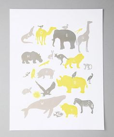 cute for a gray and yellow nursery