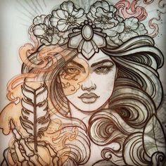 Frau | Haar | Haare | Gesicht | Bones | Knochen | Finger | Hand | Haare | Blumen | Von vorne | Face | Frauengesicht | Womanface | Face | Flowers | Pfeil