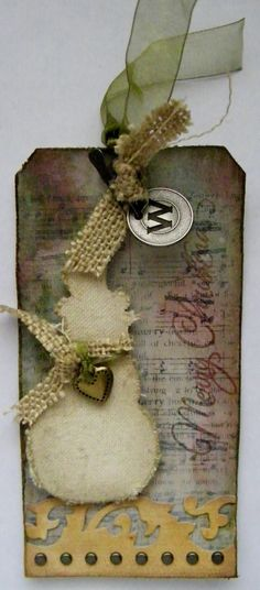 Tag 2 of the 12 Tags of Christmas with Tim Holtz  http://pammejo-scrapbookflair.blogspot.com/