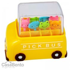 What I really like is the storage case.  Bento Picks - School Bus