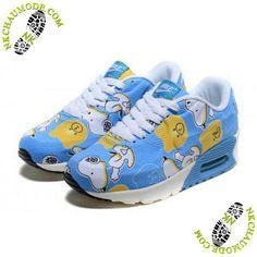 newest 0fee8 3ed29 chaussures nike air max thea 90 Enfant Snoopy Bleu Blanc New Jordans Shoes, Air  Jordan