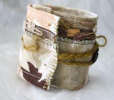 Tissu technique mixte bijoux poignet manchette par Waterrose