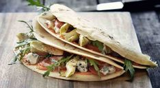 Pesto, Tacos, Mexican, Ethnic Recipes, Food, Dinner, Recipes, Artichokes, Flat Bread