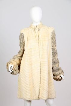1930s Ermine with Crochet Sleeves