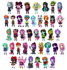 PezGirlLovesRaj • Made as many MH characters as I could on...