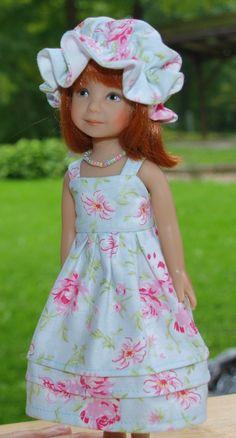 "Blue Rose dress fits Dianna Effner 8.25"" Heartstring dolls"