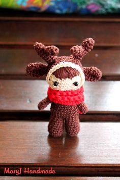 MaryJ Handmade: Renna amigurumi Free Pattern | Amigurumi reindeer doll