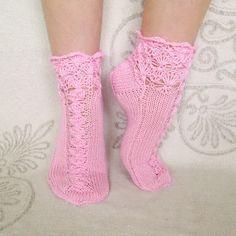 pink socks handmade knitted socks  wool socks  hand by mymomsshop1