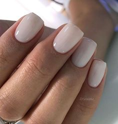 90 Beautiful Square Nails Design Ideas You'll Want To Copy Immediately – Page 2 – Cocopipi Square Acrylic Nails, Square Nails, Milky Nails, Square Nail Designs, Neutral Nails, Nagel Gel, Hot Nails, Stylish Nails, Wedding Nails