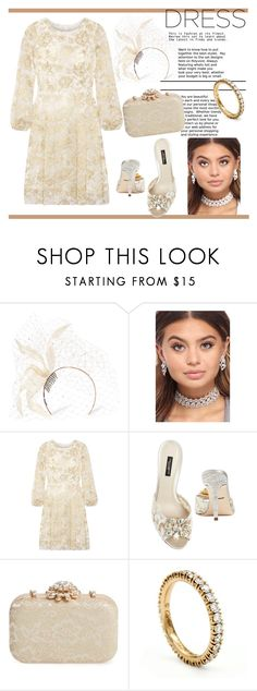 """""""BELLE of the BACHELORETTE PARTY"""" by greenacres1124 on Polyvore featuring Philip Treacy, Oscar de la Renta, Dolce&Gabbana, Glint, Cartier and dreamydresses"""