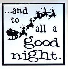 And to all a good night vinyl Christmas quote by BeaverTailBoards, $7.00