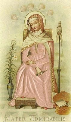 Mater AdmirabilisA Spanish holy card of Mary as the Mother Most Admirable.