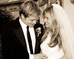 Brad Pitt and Jennifer Aniston wedding. I am still not over this divorce...